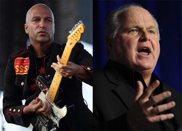 Really? Rush picks a Rage Against the Machine song to play during his show. Either very calculated or stupid. I hate to admit it, but I'm going with calculated.