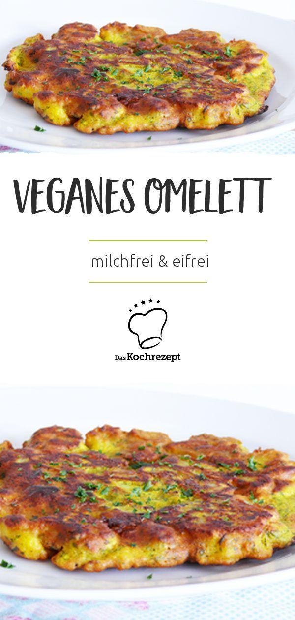 Veganes Omelett schmeckt mindestens so gut wie das Original! Im leckeren …   – Vegan