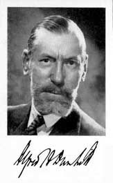Alfred Dunhill (1872 - 1959), founder of the Dunhill Pipe and Tobacco company.