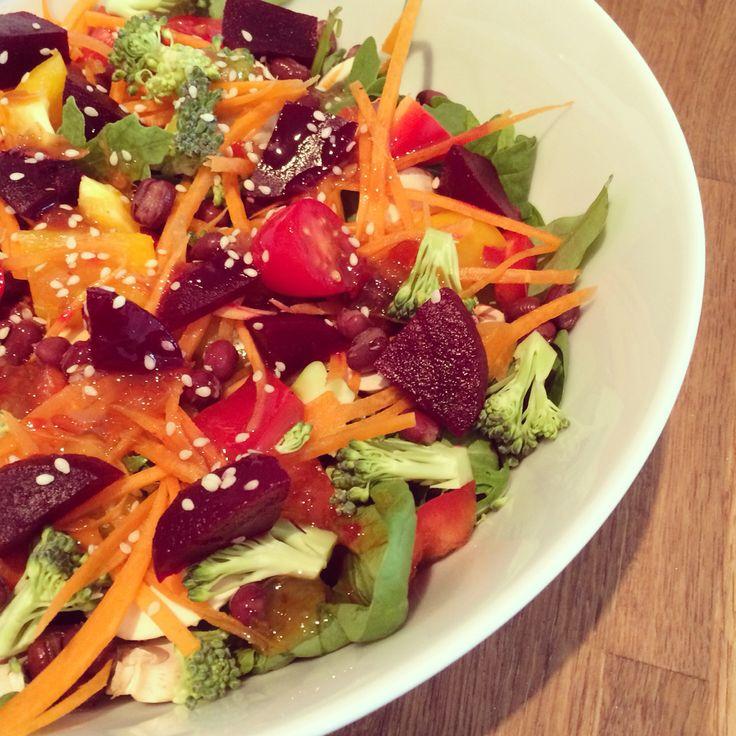 Colourful salad.