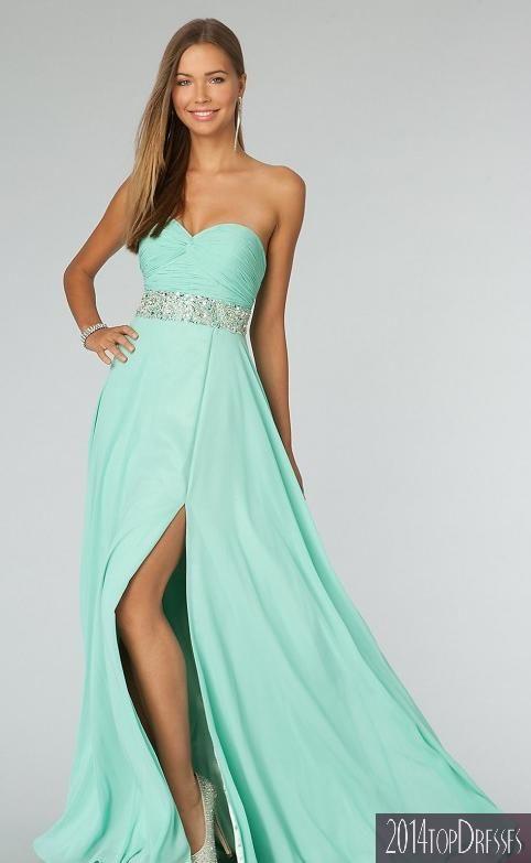 Mint Green Junior Formal Dress For