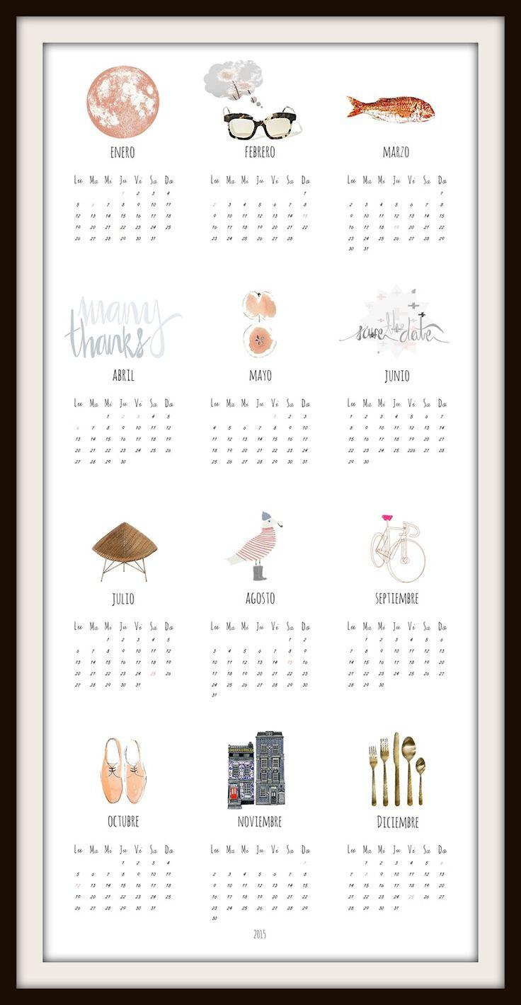 calendario anual 2015 by albë www.albe.tictail.com