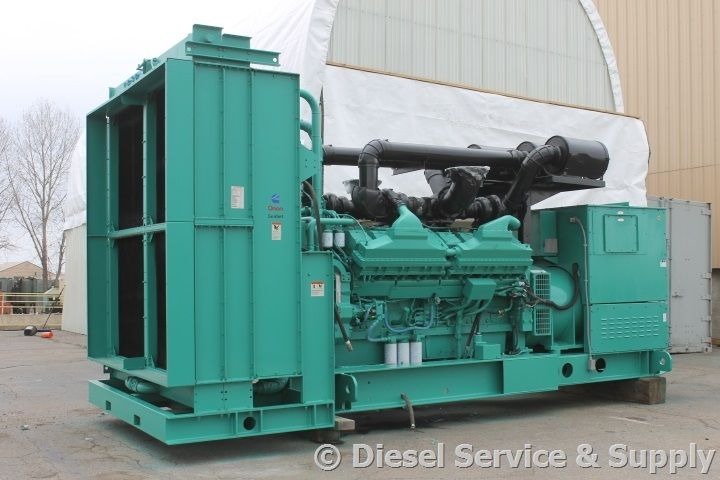 For Sale! Cummins 2000 kW Standby Diesel Generator Model #: 2000DQKC1891, Year 2001, 241 Hours, 480 Volt, 3 Phase, Auto Start/Stop, Safety Shut Down, 24 Volt Alternator, Dry Pack Air Cleaner, 3000 Amp Circuit Breaker, Muffler, Tank Block Heater, Digital Generator Panel, Digital Engine Panel, Engine Mount Radiator. Unit#: 87173 #cummins #dieselgenerator http://www.dieselserviceandsupply.com/Used-Generators/Cummins-2000-A010200595.aspx