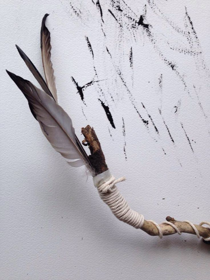 mark making - Feather Drawing