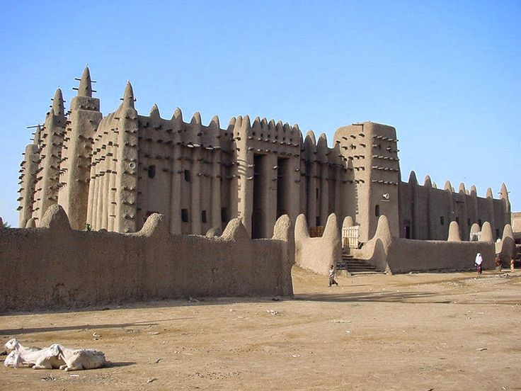 WHO TRAVEL: Travel | Mosque of Djenne, The building is apparently made ​​of mud wow, so amazing