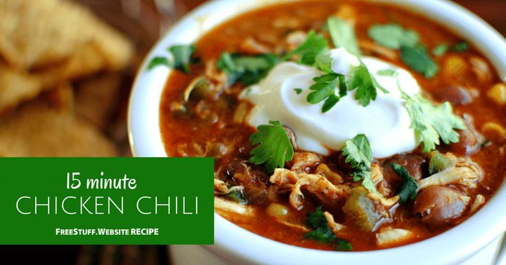 15 Minute Chicken Chili