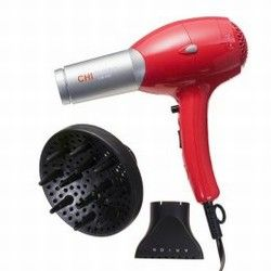 CHI Turbo Hair Dryer Ceramic 1300 Watt Farouk Red and Silver GF1541