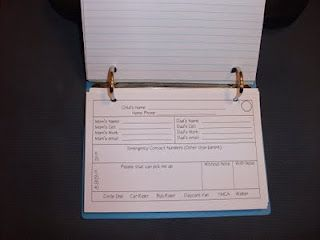 Parent contact index cards sent home first day of school.  Students bring them back and place in a binder.  The Wise & Witty Teacher: Freebies!