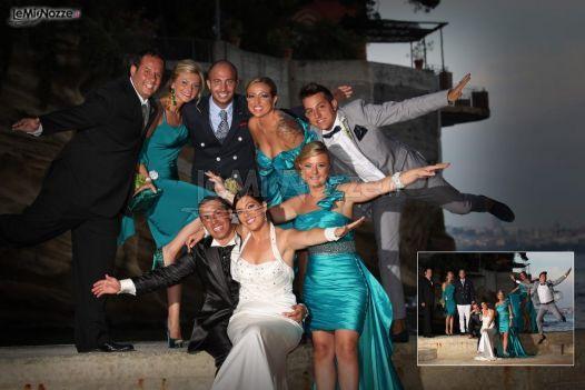testimoni di nozze con abiti blu #tiffany