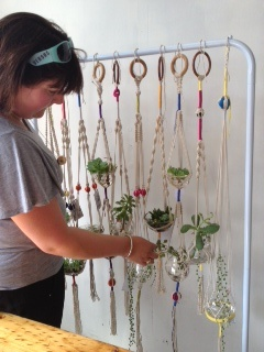 expand this idea to be as tall as the ceiling and and as wide as the room to hang pictures and plants on