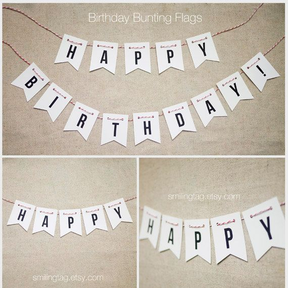 Happy Birthday Bunting Pennant Flag - Party Flags - Event Bunting - Party Bunting - Wedding Bunting - Set of  14 Flags (Item code: J326)