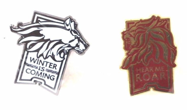 RARE Game of Thrones Pin Set CMON Game Convention HOUSE STARK LANNISTER New PAX