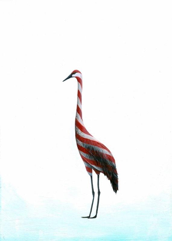 CANDY Crane!: Acrylic Paintings, Etsy, Candy Crane Hahahahahahaha, Christmas Decorations, Acrylics, Cheap Bird, Candy Cranes