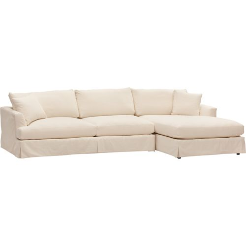Sofa option, comes in linen-colored also, slipcover is removable and washable. Andre Slipcover Sectional