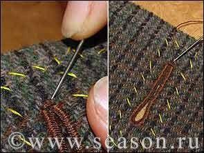 Клуб любителей шитья Сезон - сайт, где Вы можете узнать все о шитье - Прорезная петля, выполненная вручную