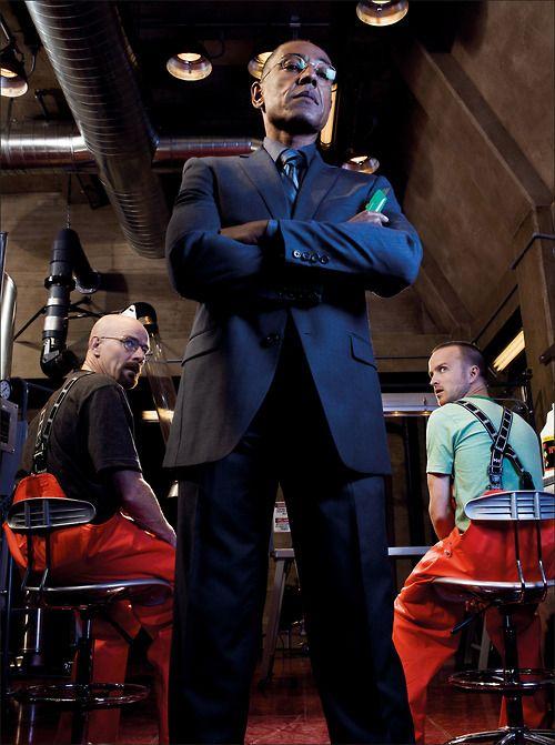 Breaking Bad Gustavo Fring, Jesse Pinkman and Walter White