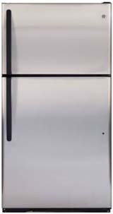 click on image to view spec  GE 20 CU FT Top Freezer Stainless
