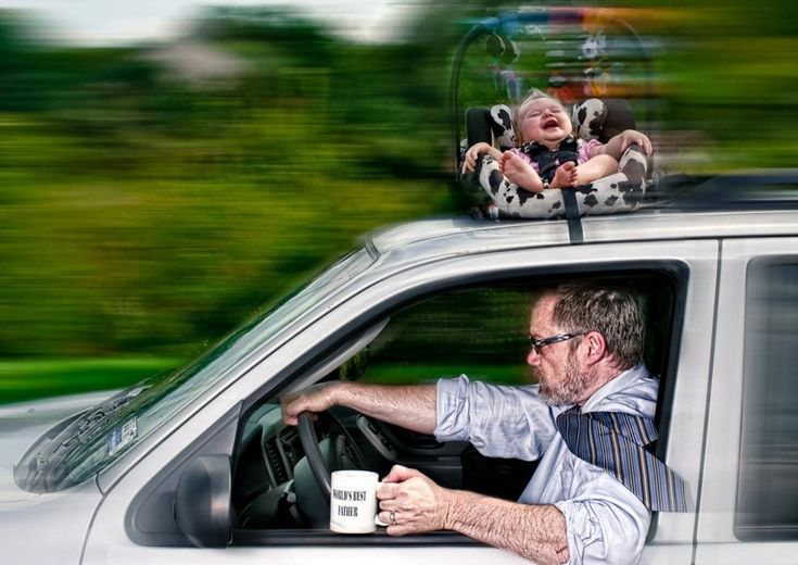 """This was another early favorite, inspired by Engledow's """"deathly"""" fear that he would leave Alice's car seat on top of the car. 