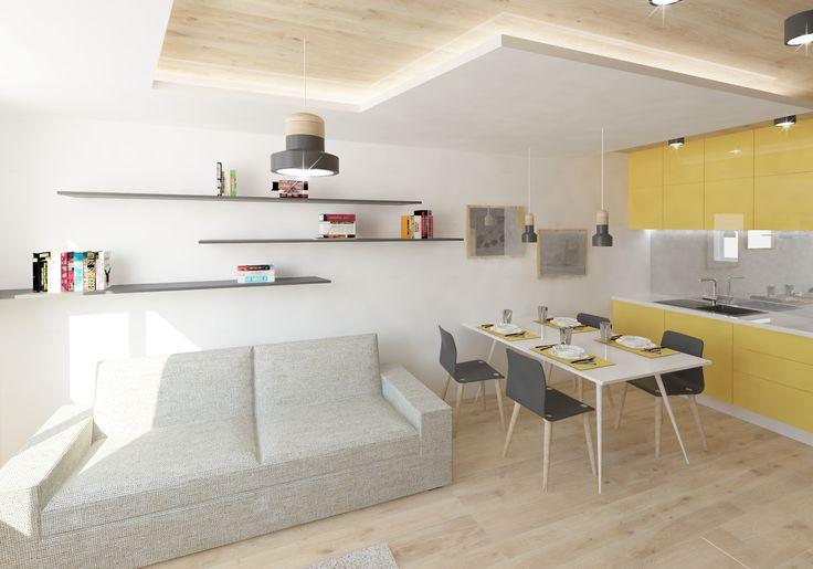 Proměna interiéru panelového bytu.| Vizualizace: Versatile.cz