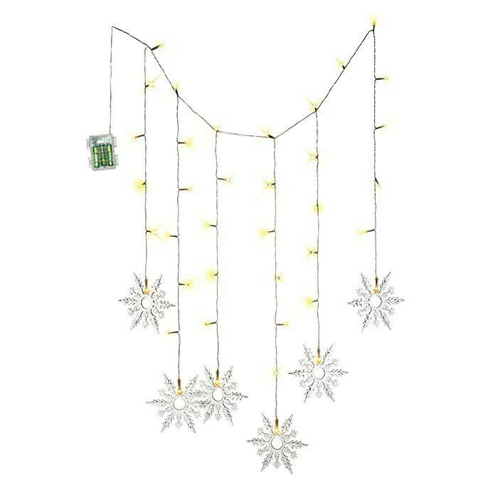 "OUTDOOR KED SNOWFLAKE LIGHTS ■ Plastic, 29"" wide; strands: 21.5"" long (each snowflake: 6"" diam.), uses 3 AAA batteries (not included), $19.99 #AvonLiving #Christmas Visit my online store @ www.youravon.com/amartinez8866"