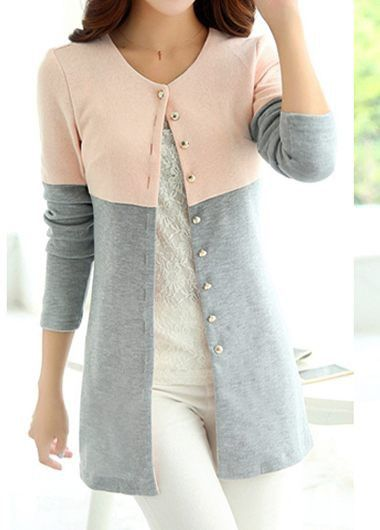 Long Sleeve Button Up V Neck Fall Outfits at Rosewe.com, free shipping worldwide at rosewe.com, check it out.