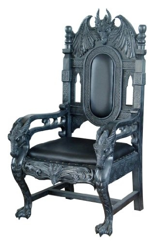 DRAGON KING CHAIR...For my evil lair, now I need one in kitty size