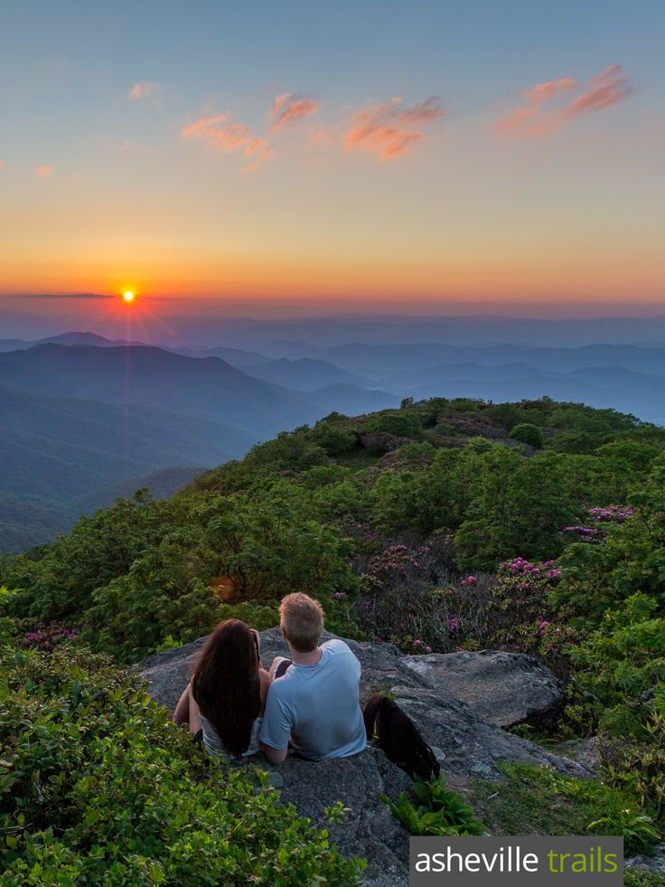Hike to beautiful sunsets at Craggy Gardens, just off the Blue Ridge Parkway near Asheville, NC