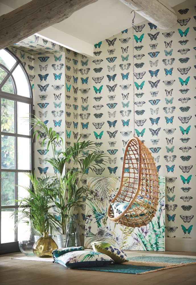 Stunning #butterfly #wallpaper from the new Amazilia collection by Harlequin.