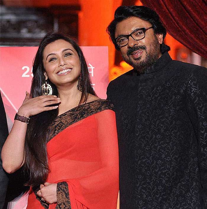 Bollywood actress Rani Mukherji and Director Sanjay Leela Bhansali during the launch of Bhansali's TV serial Saraswatichandra for 'Star Plus channel' in Mumbai. (PTI)