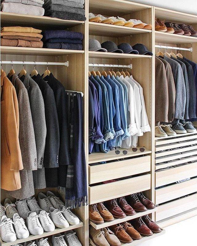 Men's closet. #organization #clothes #fashion