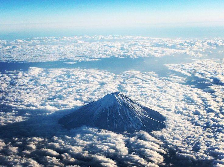 2015.12 東京⇨江津  見事な富士山
