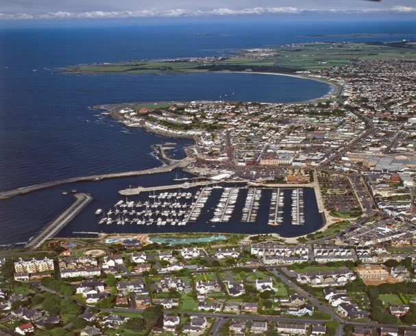 Bangor, Northern Ireland, with Ballyholme and Groomsport beyond.