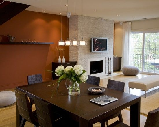 Modern Living Room Orange Accent Wall Design Pictures Remodel Decor And Ideas