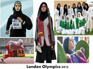 The Muslim women from many countries like Qatar, Saudi Arabia and Brunei are entering first time in the Olympic 2012 in the athletes and other games. They face many obstacles for taking part in the games of Olympic but finally they got permission to take part in the Olympic. They wear hijab and long clothes during the game according to the Islamic laws.