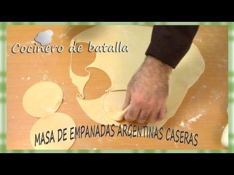 "Masa de empanada argentina casera: ""Receta de tapas de empanadas argentinas caseras para horno"""