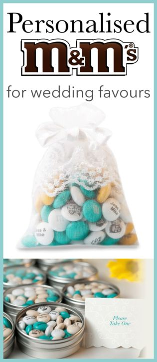 If you have a sweet tooth these Personalised M&M's make great wedding favours!