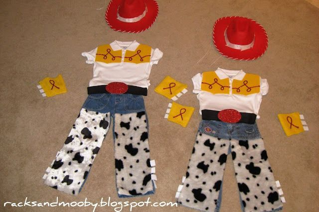 Homemade Jessie Costume | DIY Jessie from Toy Story Costumes - no sewing involved!