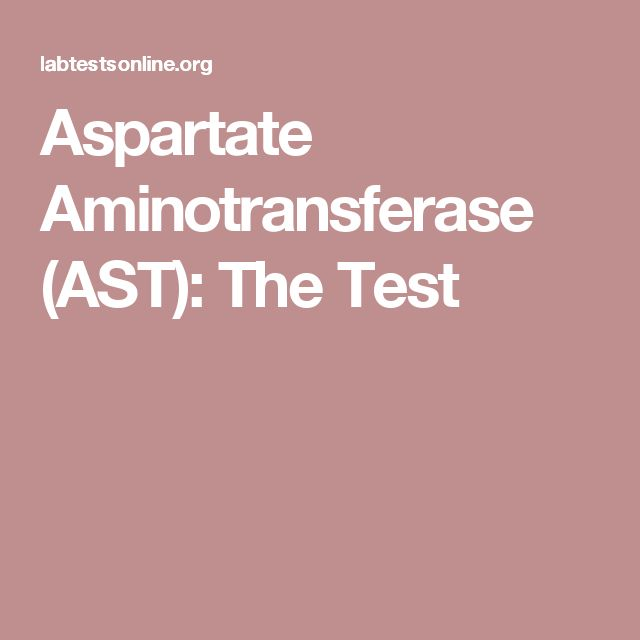 Aspartate Aminotransferase (AST): The Test