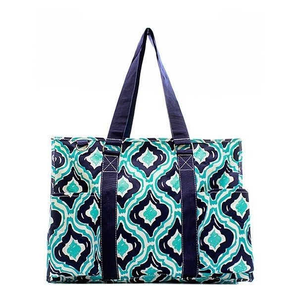 """Personalized 15"""" Large Organizing Utility Tote Bag Beach Diaper"""