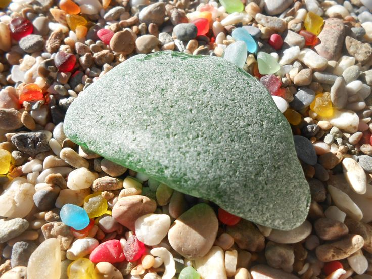 Big green wild frosted sea glass, large green beach glass piece, genuine greek sea glass supply by BeniciaSeaglass on Etsy