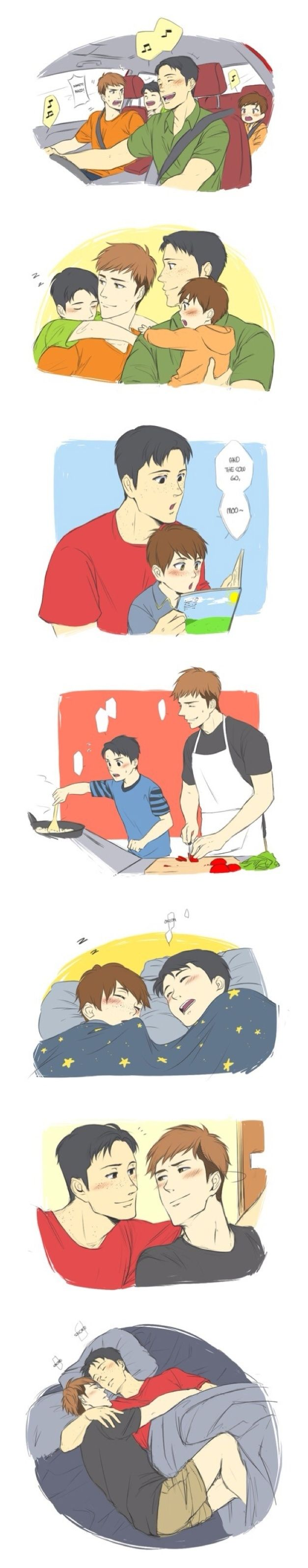 Attack on Titan ~~ AU Sweet home life :: Jean and Marco