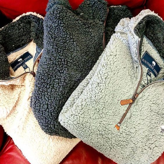 Good things come in threes. #southernshirtco #sherpa