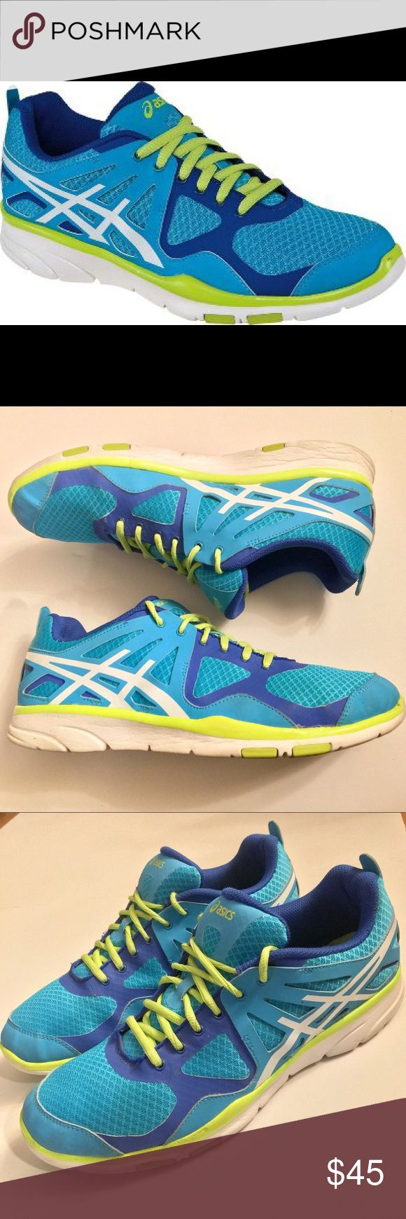 ASICS Women's GEL sustain TR cross training shoes Lightweight, supportive construction, crucial cushioning and flexibility deliver performance  Rearfoot GEL cushioning system AHAR+ outsole  Synthetic and mesh   Excellent used condition Asics Shoes Athletic Shoes
