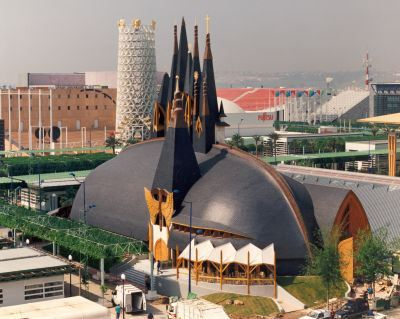 Imre Makovecz, Hungarian Pavilion, Seville
