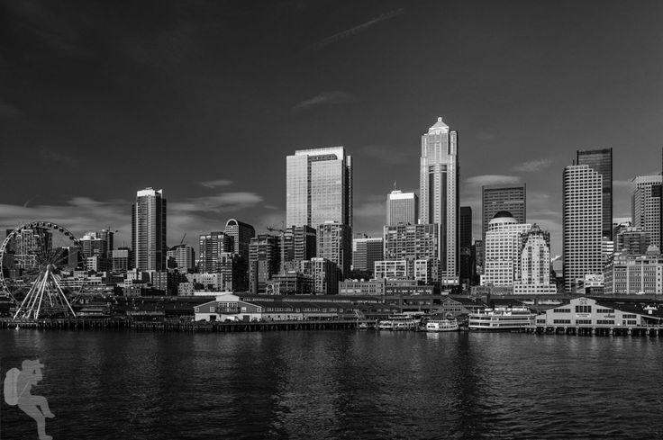 Seattle Skyline from the ferry to Bainbridge  Pentax K-3 • 1/160sec • f/8 • 27mm • ISO 100 • smc Pentax-DA 18-55mm f3.5-5.6 AL WR
