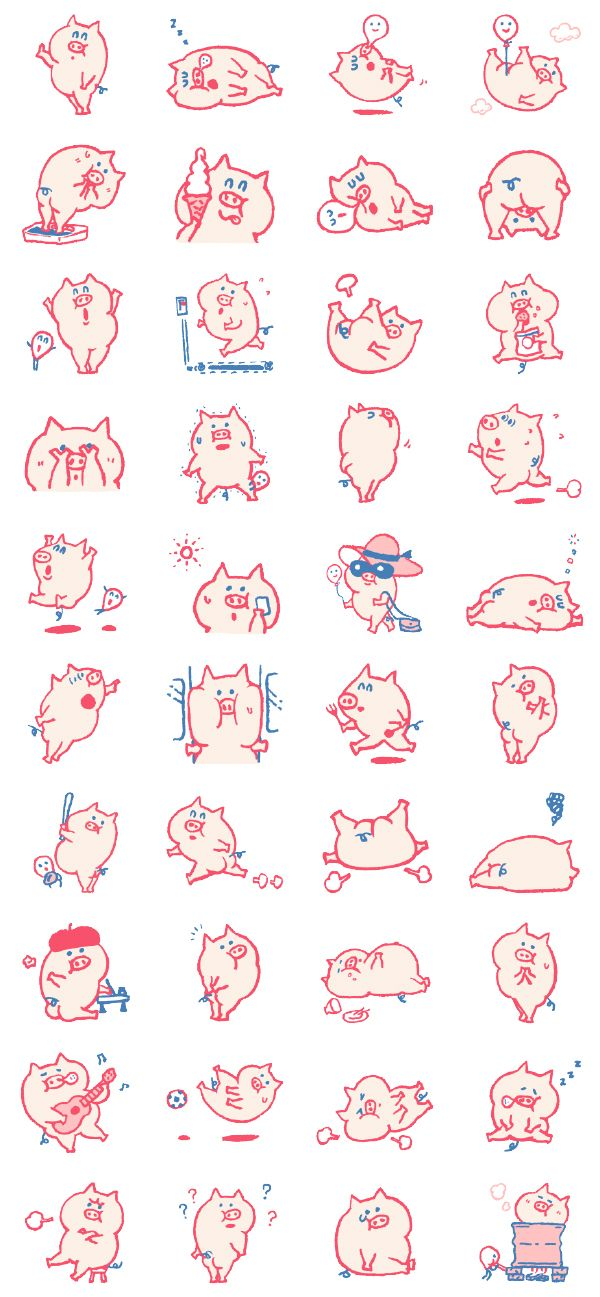 Utatane Pokko_LINE Stickers on Behance