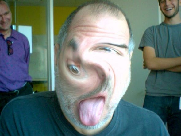 stevie goofing with Photo Booth twirl ☺
