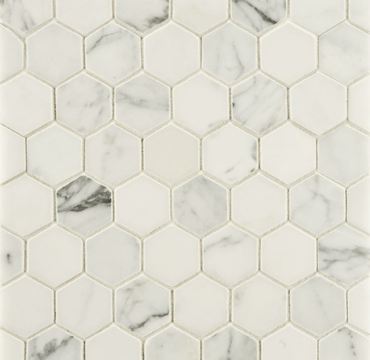 Ann Sacks Statuary Clic 2 Hexagon Marble Mosaic In Honed Finish