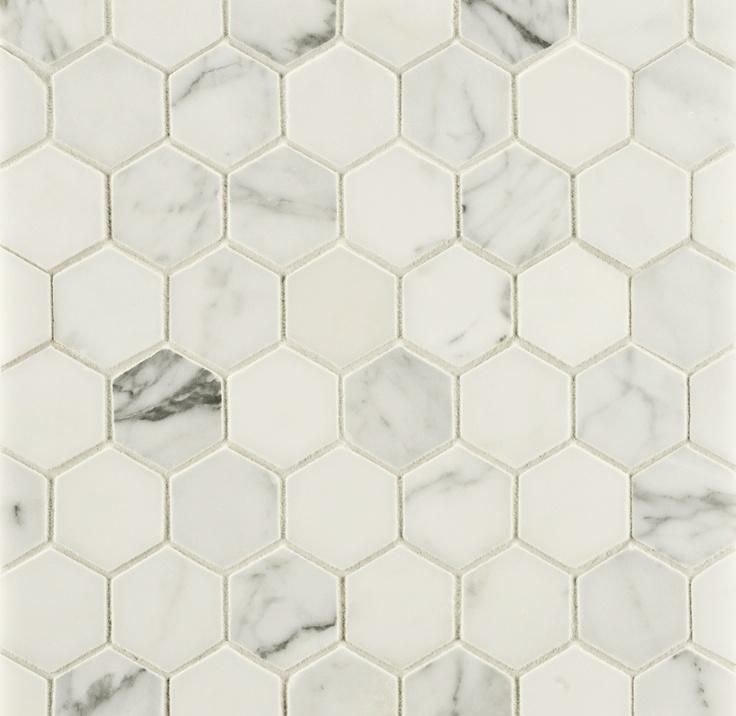 """Ann Sacks Mosaic Bathroom Tile: ANN SACKS Statuary Classic 2"""" Hexagon Marble Mosaic In"""