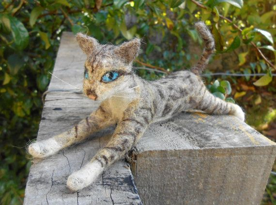 Made-to-order Custom Needle Felted Cat - soft sculpture - Bengal cat